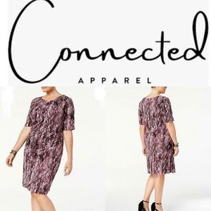 🆕NWOT Connected purple snake print tier dress W20